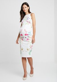 True Violet Maternity - STRAP BACK MIDI DRESS - Kotelomekko - white - 0