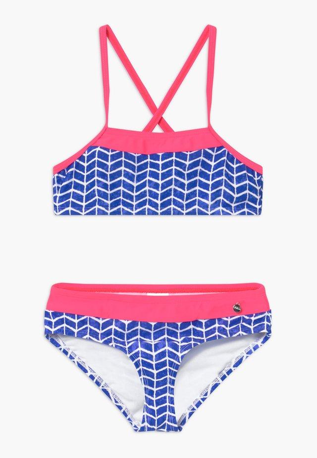 SET - Bikini - blue/white