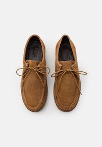 Zign - LEATHER - Volnočasové šněrovací boty - cognac - 3