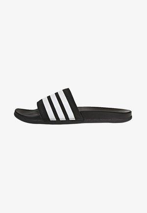 ADILETTE CLOUDFOAM PLUS STRIPES SLIDES - Slippers - black/white