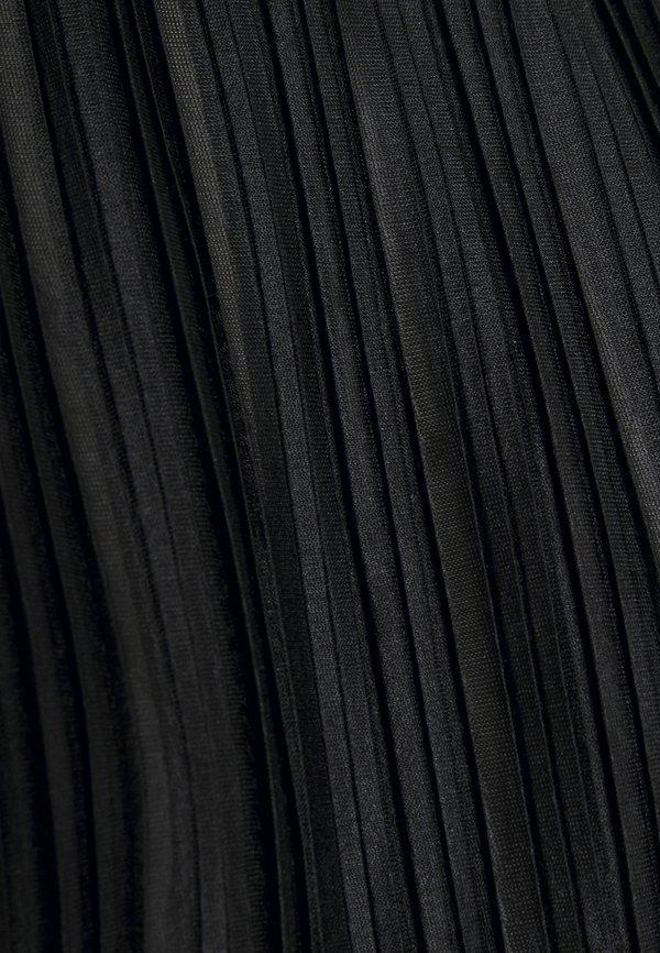 ONLY ONLELEMA ONECK BOX - Bluzka - black/czarny HDLX