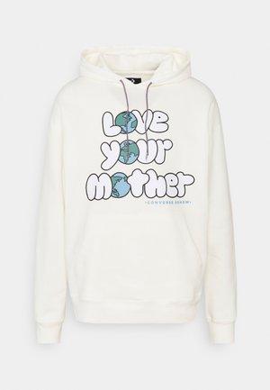 RENEW LOVE YOUR MOTHER GRAPHIC HOODIE UNISEX - Sweatshirt - egret