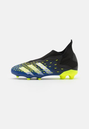 PREDATOR FREAK .3 LL FG UNISEX - Moulded stud football boots - core black/footwear white/solar yellow