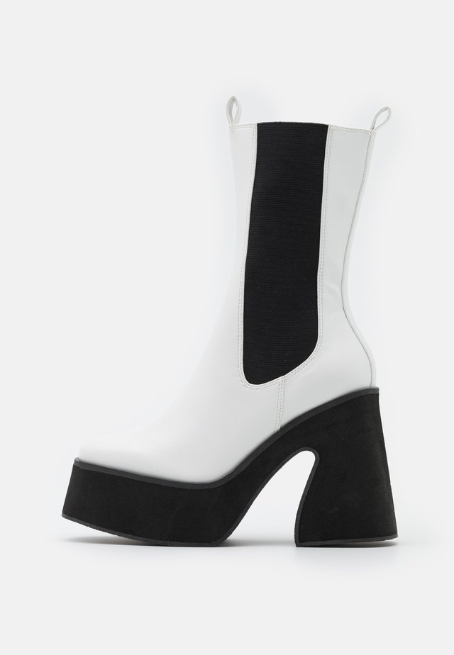 VEGAN - Bottines à talons hauts - white