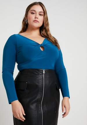 CURVE SLINKY KNOT KEYHOLE BODYSUIT - Long sleeved top - teal