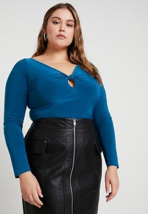 CURVE SLINKY KNOT KEYHOLE BODYSUIT - T-shirt à manches longues - teal