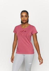 Salewa - GEOMETRIC TEE - Print T-shirt - mauvemood melange - 1