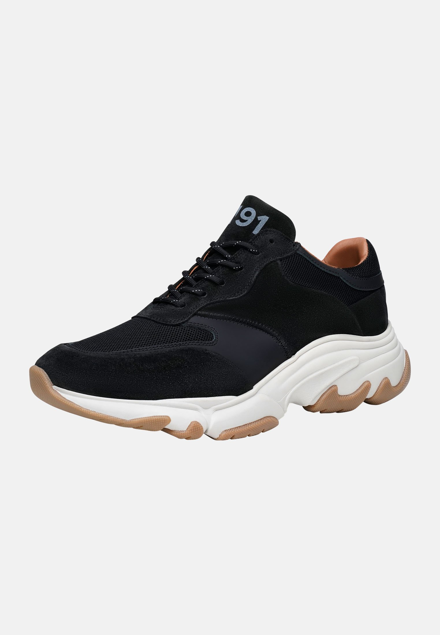 SHOEPASSION Sneaker low - schwarz/dunkelgrün - Herrenschuhe npiL7