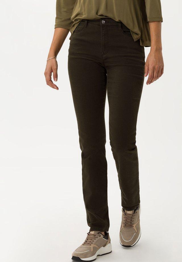 STYLE CAROLA - Jeans Straight Leg - dark olive