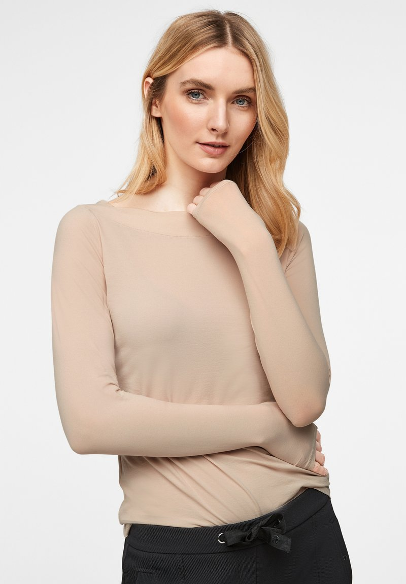 comma - Long sleeved top - champagner
