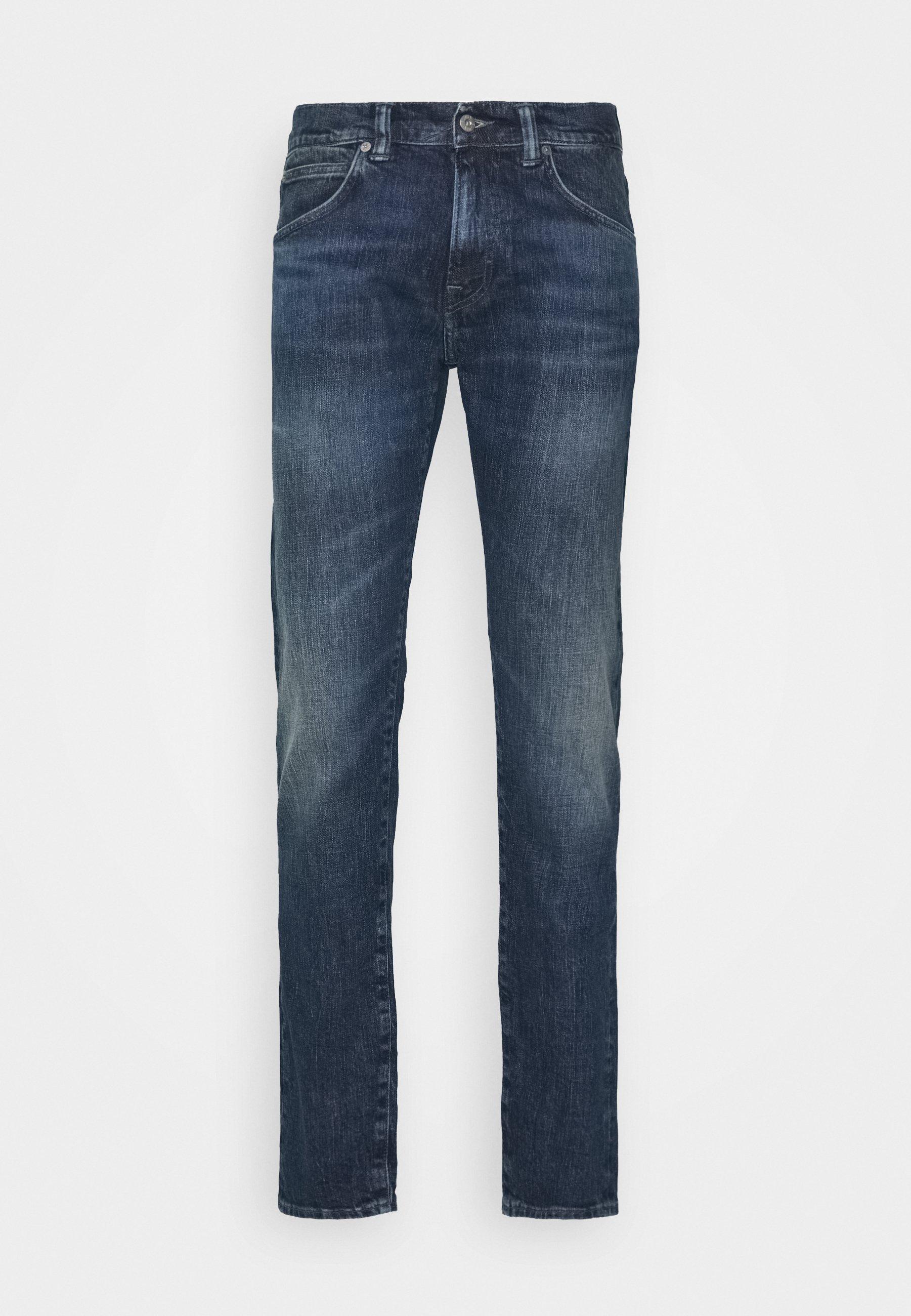 Edwin DROP CROTCH - Jeans fuselé - takeo wash yuuki blue denim