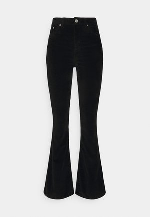 FLARE JEAN CORD - Flared Jeans - black