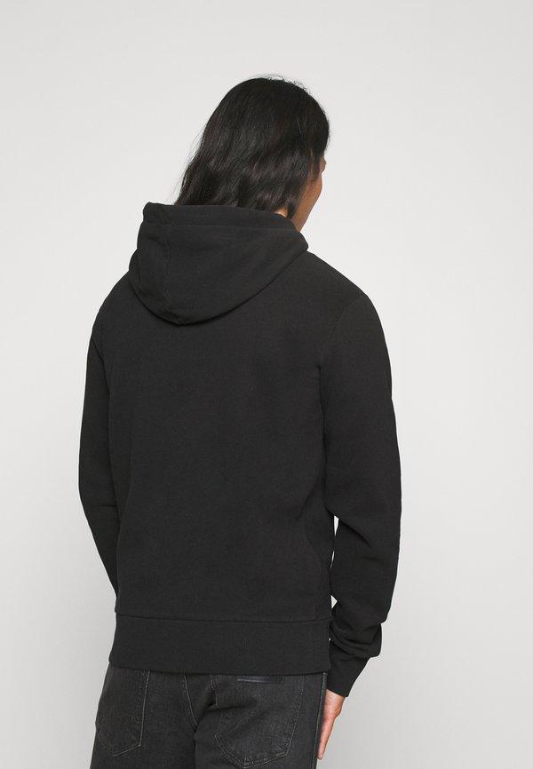 Superdry ZIPHOOD - Bluza rozpinana - black/czarny Odzież Męska WZXZ