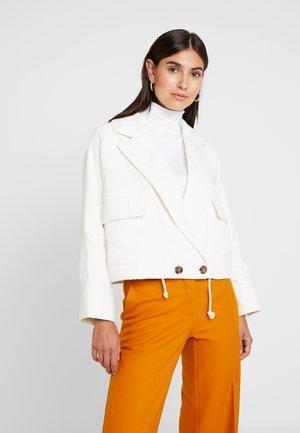 BROOKE CROPPED JACKET - Denim jacket - ecru