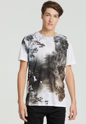 DEAD NATURE - Print T-shirt - white