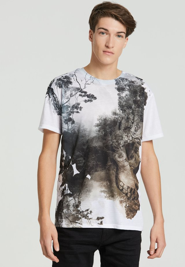 DEAD NATURE - T-shirt con stampa - white
