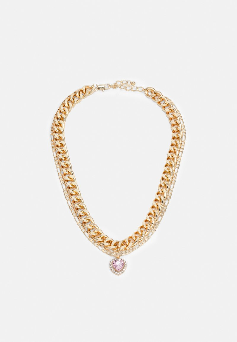Pieces - PCIRIS COMBI NECKLACE - Necklace - gold-coloured
