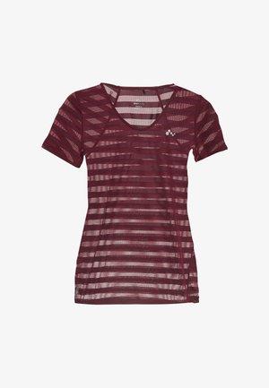 ONPAMELIA - T-shirts med print - beet red/melange