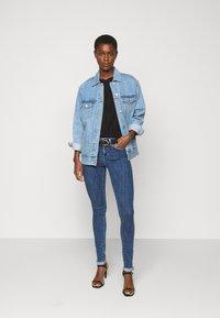 ONLY Tall - ONLPOWER LIFE PUSHUP - Jeans Skinny Fit - dark blue denim - 1