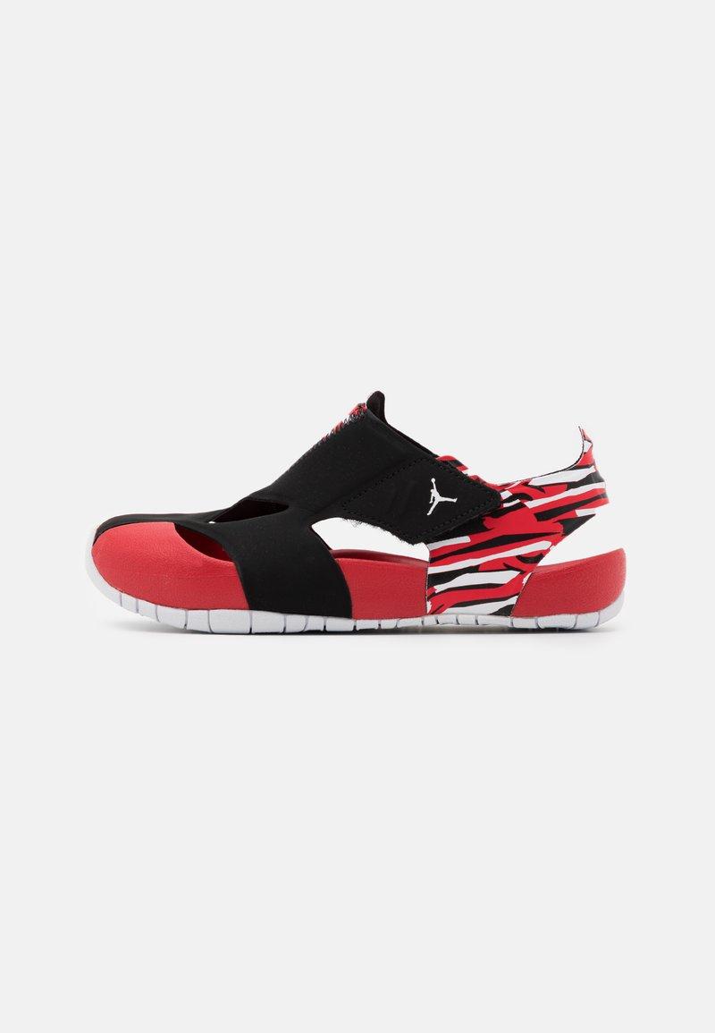 Jordan - FLARE UNISEX - Rantasandaalit - black/white/unerversity red