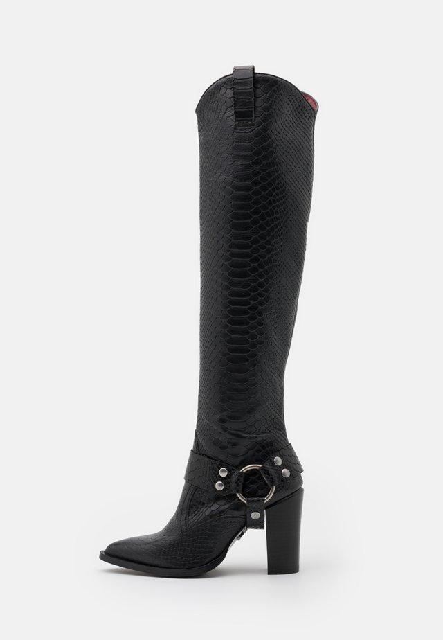 NEW AMERICANA - Stivali con i tacchi - black