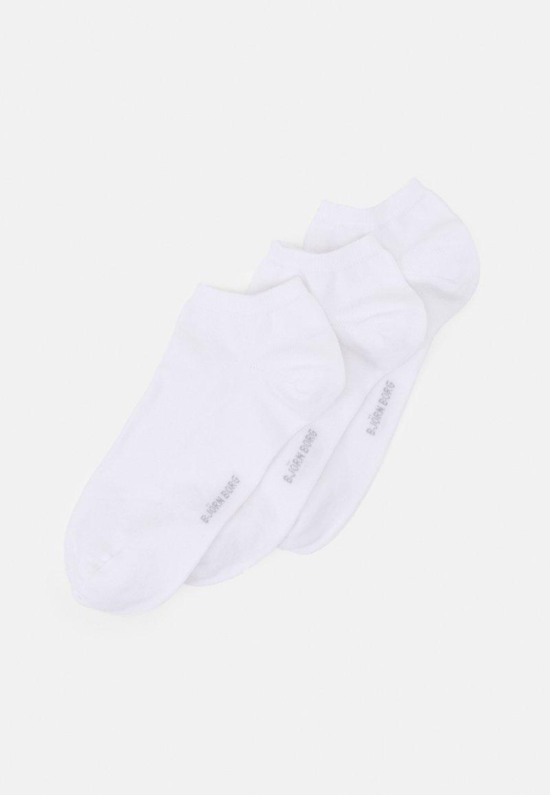 Björn Borg - SOLID ESSENTIAL STEP SOCK 3 PACK - Socks - white