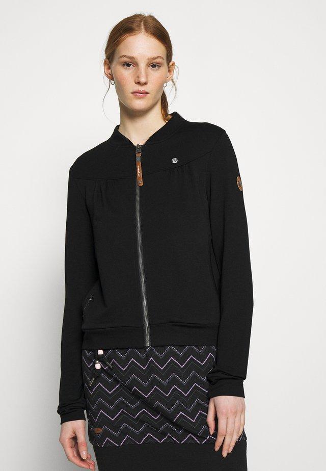 KENIA - Zip-up hoodie - black