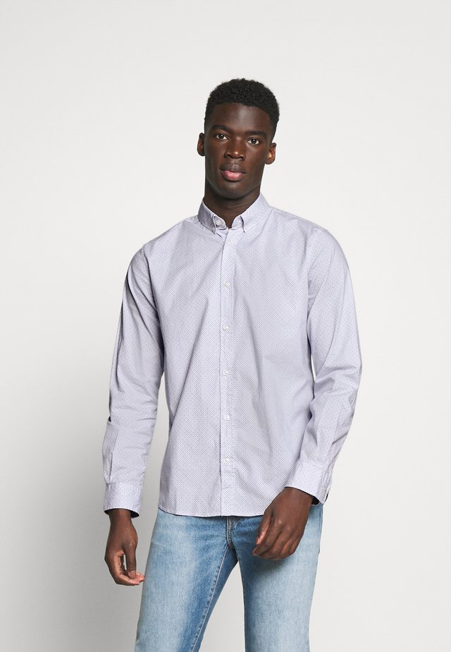 REGULAR PRINTED - Camicia - white/blue