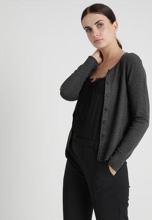 RITA CARDIGAN - Cardigan - dark grey melange