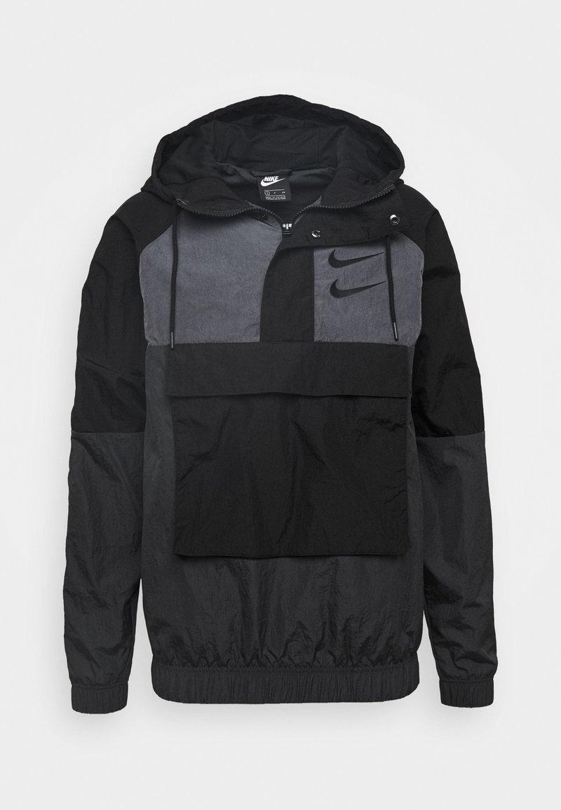 Nike Sportswear - Wiatrówka - black/anthracite/dark grey