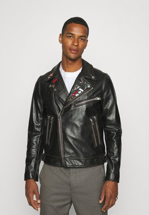 L-GARRETT-NEW - Leather jacket - black