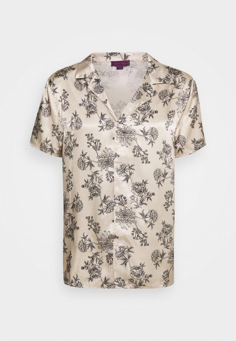 Urban Threads - PRINTED FLORAL REVERE - T-shirts print - black/ecru