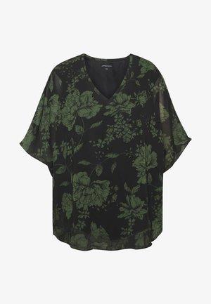 V-NECK LINED BLOUSE - Bluser - black floral