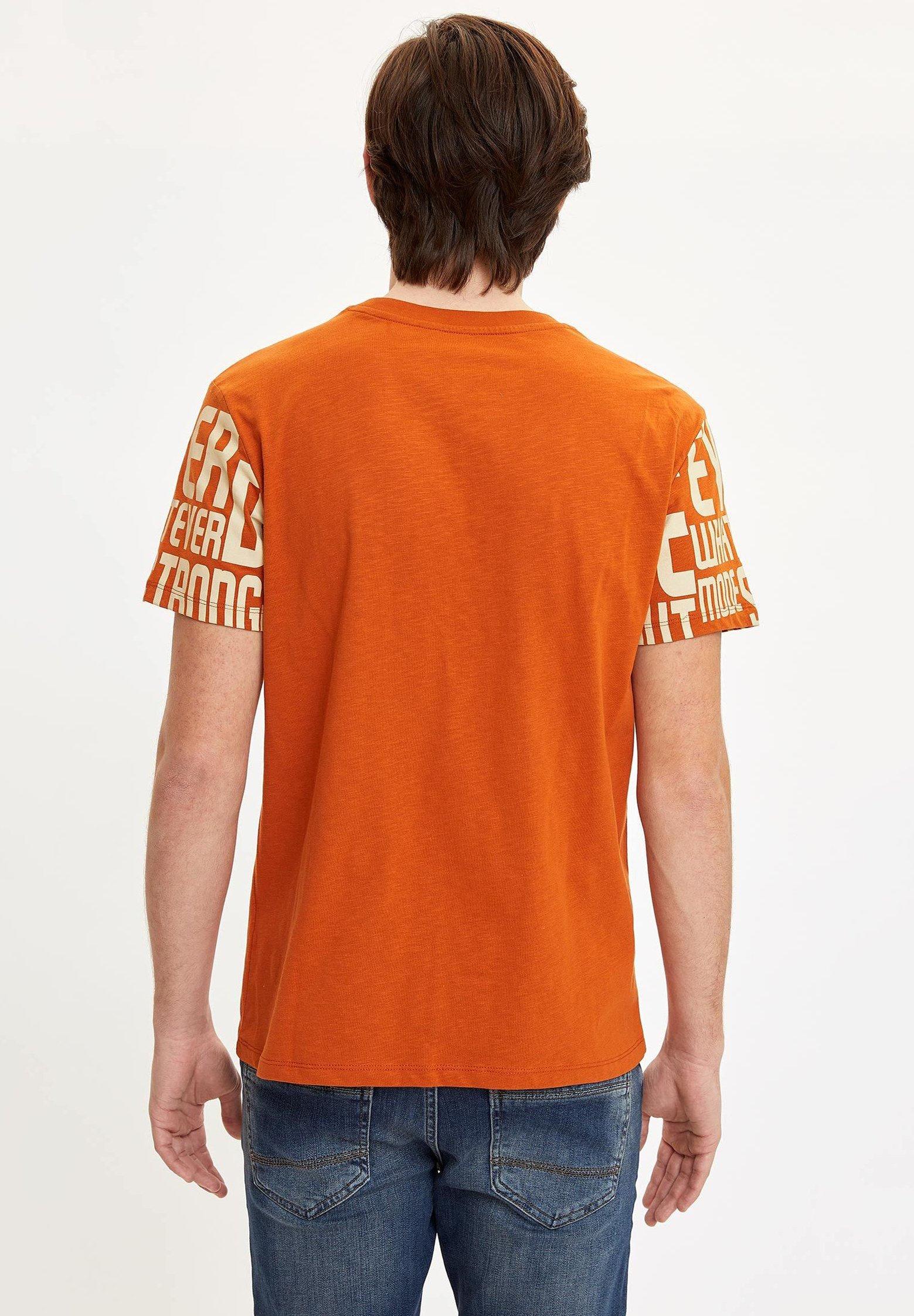 DeFacto Print T-shirt - brown XalNS