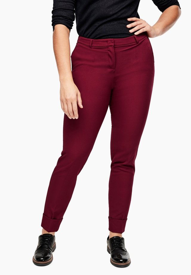 BROEK - Trousers - dark pink