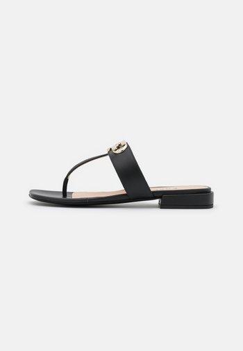 CHAIN THONG - T-bar sandals - nero