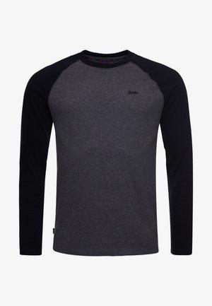 VINTAGE - Long sleeved top - rich charcoal marl/black