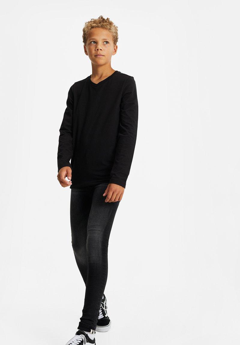 WE Fashion - REGULAR FIT - Long sleeved top - black