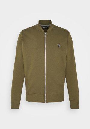 MENS ZIP BOMBER - Zip-up hoodie - khaki