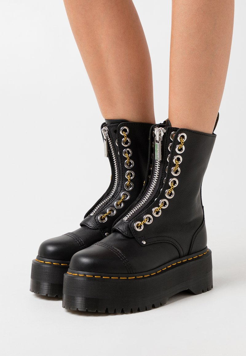 Dr. Martens - SINCLAIR HI MAX - Platform ankle boots - black pisa