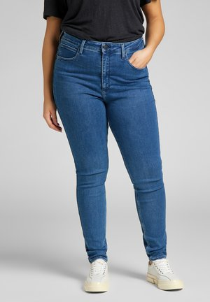 SUPER HIGH SCARLETT - Skinny-Farkut - blue denim