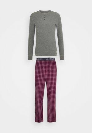 JACWOVENPANTS - Pyjama - red bud/grey melange