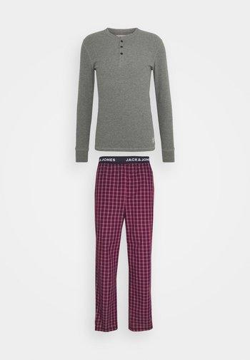 JACWOVENPANTS - Pyžamová sada - red bud/grey melange