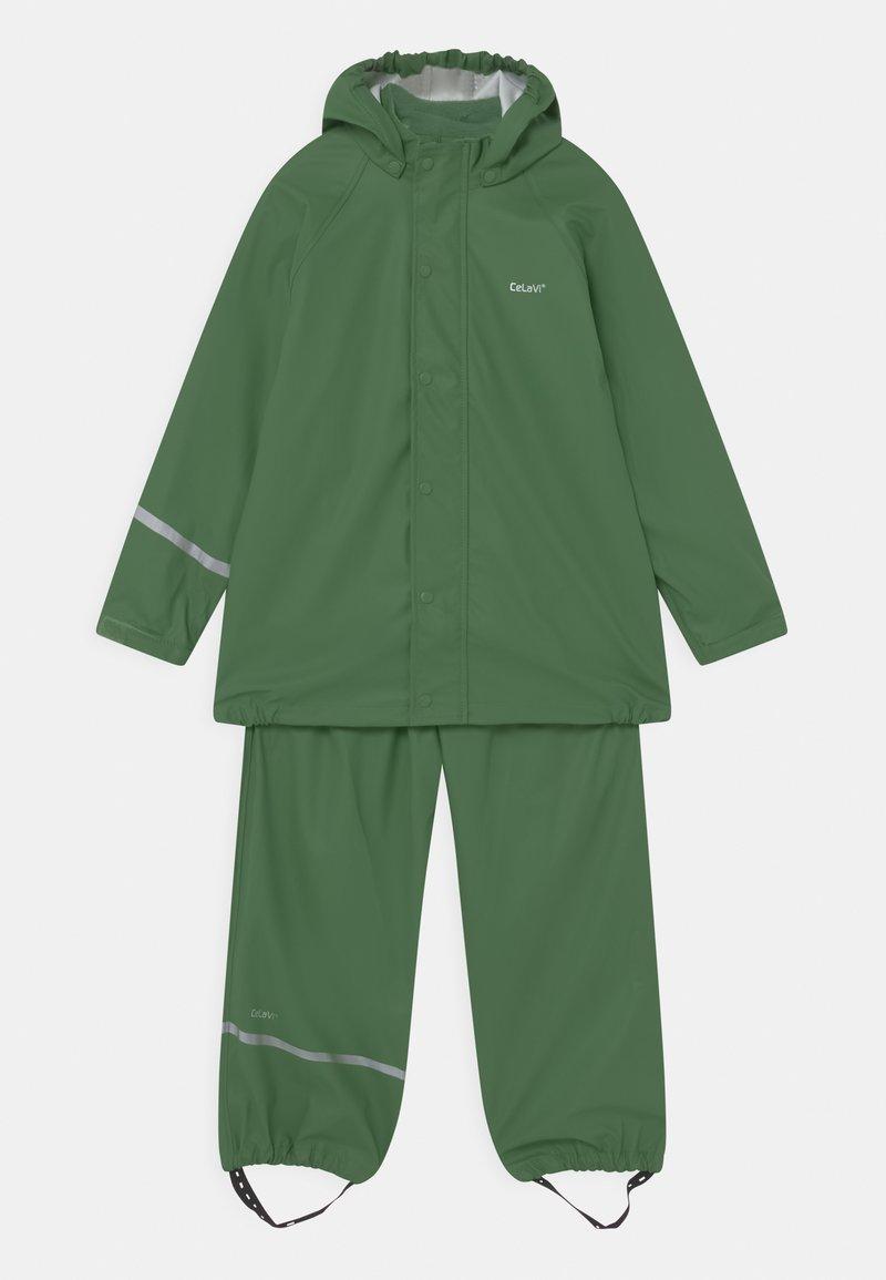 CeLaVi - BASIC RAINWEAR SET UNISEX - Waterproof jacket - elm green