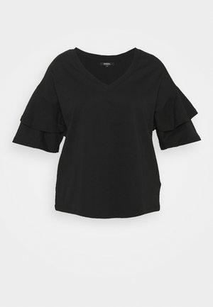 OVERSIZED FRILL - T-Shirt print - black