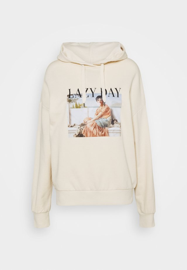 LONG OVERSIZED HOODIE - Jersey con capucha - off-white