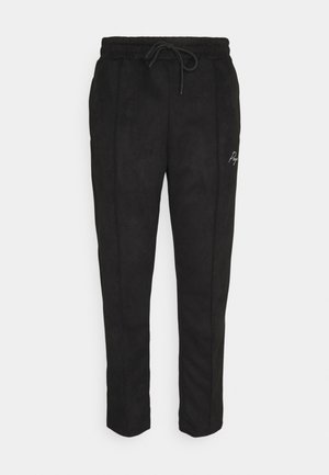 WIDE PANTS - Kangashousut - black