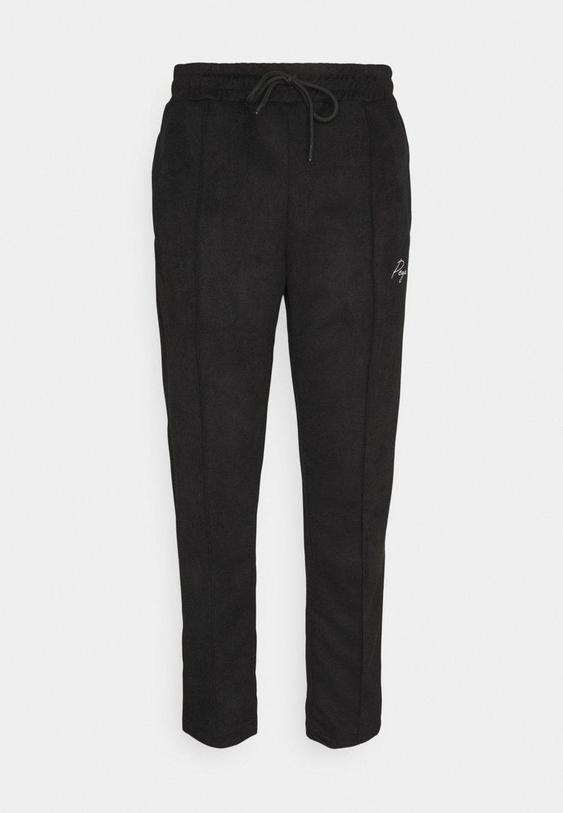 Pegador - WIDE PANTS - Pantaloni - black