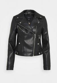 Vero Moda - VMHOPE COATED JACKET - Faux leather jacket - black - 4