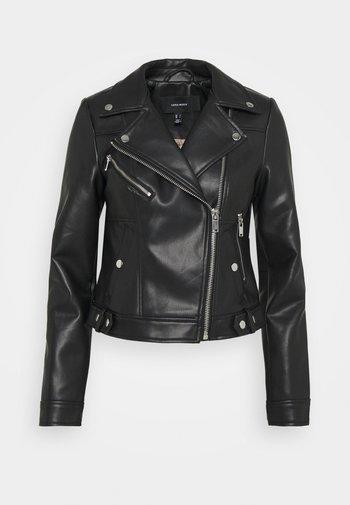 VMHOPE COATED JACKET - Faux leather jacket - black